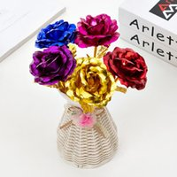 24K Gold Plated Rose Flower Mother' s Day Birthday Gift ...