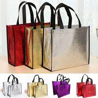 Mode Laser Einkaufstasche Faltbare Öko-Tasche Große Wiederverwendbare Einkaufstaschen Tasche Wasserdichte Gewebe Vliestasche Kein Zipper Heißer Verkauf