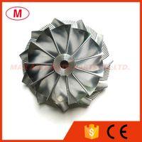 GT3582 451644-0005 61.33 / 82.00mm 11 + 0 lames Forward Turbo roue de compresseur billettes / Aluminium 2618 / Point de fraisage pour roue de course
