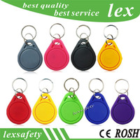 Best cheapest Factory price TK4100 125khz 100pcs lot ISO11785 ABS RFID personalised engraved key chain tags