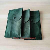 Venda quente de alta qualidade relógios saco caixas perpétua relógio verde pano de pano coleção de cole de viagem 70mm x 130mm para presidente 124300 116500 126610 126710 relógios de pulso