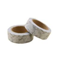Japanisches Papier Marmor Washi Klebeband White Paper Masking Tapes Klebebänder Aufkleber Dekorative Briefpapier-Klebeband 1.5cm * 10m 2016