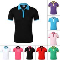 남성 캐주얼 폴로 셔츠면 짧은 소매 여름 대비 색상 통기성 남성 슬림핏 폴로 탑