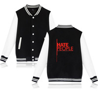 New Fashion Hate People Jacket Coat Happy Camper Graphic Cas...