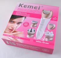 Kemei KM-8001 Épilateurs électriques 5 en 1 Rasoir rechargeable Rasage Facial Coupe de cheveux Remover Defeatherer Épilation Masseur Suppression de cal