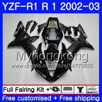 Bodys Para YAMA YZF R 1 YZF 1000 YZF-1000 YZFR1 02 03 Carroçaria 237HM.13 YZF R1 02 YZF1000 estoque preto fosco YZF-R1 2002 2003 Carcaça