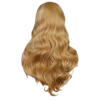 Turecolor Perucas Mulheres Long Wavy Natrual Mixed peruca loira Black Red Heat Resistant sintético perucas de cabelo