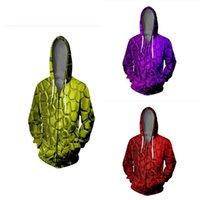 Sudaderas con capucha para hombres Sudadera con capucha 3D Impresión de grano Venas de traje Hip Hop Hombres Mujeres Chaqueta con cremallera Harajuku Manga larga Hombre con capucha Tops