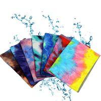 Новый дизайн Tie-окрашенные йога коврик покрывают тончайшее волокно Пилатес полотенце Противоскользящего силиконовых точечный йога одеяло на открытом воздух пляжных коврики