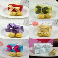 Nupcial do casamento Box bowknot Bolsas de doces do Natal favores partido dos doces bonitas Boxes