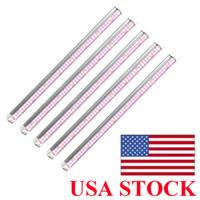 ABD Stok T8 LED Açma / Kapama anahtarı ile, Işık 2 ft 3 ft 4 ft Tam Spektrum Sunlike Entegre Lambası Fikstürü, Tak ve Büyüyen büyütün 5-Pack
