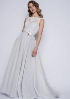 Полная длина кружева лиф низкий V назад boho тюль юбка свадебные платья свадебные платья до колен свадебные платья случаю платья SW0028