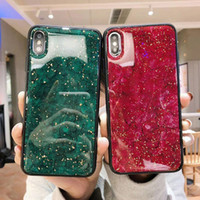 Custodia Glitter in vetro per Samsung M10 S8 S9 Plus S10 S10e S10e Nota 8 Galaxy J4 2018 Core J6 Prime Plus Cover