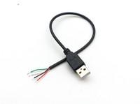 50 pezzi USB 2.0 tipo maschio a 4 pin 4 fili dati e cavo di ricarica per fai-da-te