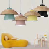 Creative solid Wood Led Pendant light Cafe Restaurant Wood Pendant lamp Nordic Modern Lighting Hanging Lamp for Home Light -Le-78