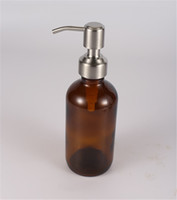 Высокое качество Нержавеющая сталь 28/400 из нержавеющей стали Ручной дозатор мыла для бутылок из янтаря