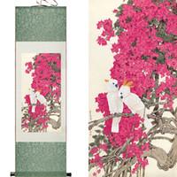 Pássaros Brancos E Beautifull Rosa Flores Super Qualidade Arte Tradicional Chinesa Pintura Em Casa Escritório Decoração Pintura Chinesa
