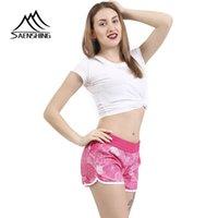 Mulheres Praia SAENSHING New Hot Board Shorts Feminino Surf Swim Shorts respirável Desportos de Verão rosa curto