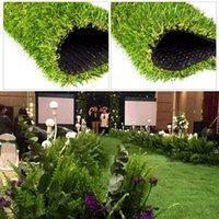 الزهور الزخرفية أكاليل 1 m2 العشب الاصطناعي السجاد الأخضر الضميمة القماش الطابق وهمية pvc العشب حصيرة حديقة المنزل الديكور الزفاف
