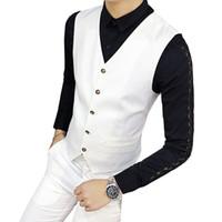 Erkek yelek 7 renkler erkekler yelek takım elbise iş rahat yelek asya boyutu s m l xxl xxxl ince tasarım