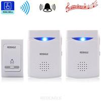 Sonnette sans fil 38 LED Tunes Chimes numérique à distance de Bell Récepteur commande de porte 1V2 Sonnettes V006B2
