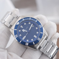 Montre de luxe otomatik mekanik hareketi erkek kaliteli Mavi 316L paslanmaz çelik dial izlemek kordonlu saat Relojes de lujo para hombre