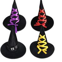 New Decoracion Dia Das Bruxas Bruxa Chapéu Caps Halloween Party Chapéu Halloween Masquerade Adulto Mulheres Mensparty Decoração Suprimentos Hot