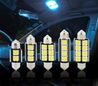 100PCS C5W 꽃줄 자동 LED 빛 31mm의 36mm에서 41mm 5050 SMD 2LED 3LED 4LED 6LED 8LED 자동차 LED 전구 12V 화이트 인테리어 램프