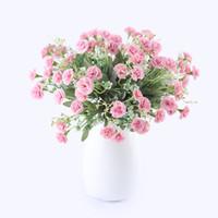 15 Cabeças De Seda Artificial De Floco De Neve Branca Pequenas Flores Lilás Babysbreath Para O Casamento Decoração de Casa Decoração De Natal Gypsophila