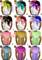 20colors 3D-Druck T-Shirt Sommer Kurzarm T-Shirt Sweat Shirt Sport Jogger beiläufiger T-Shirt Quick Dry Trendy Tops M-6XL LY617