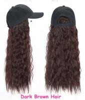 الكل في واحد قبعة مارلي لمة التريكو الصوف القبعات قبعة غريب مجعد الشعر قابل للتعديل القبعات المرأة تصميم الأزياء الجديدة متموجة الاصطناعية الشعر اسود
