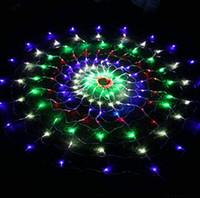 LED Net Işıklar, Örümcek Web Işık Flaş Yıldızlı Gökyüzü Noel Dekorasyon Masal Yuvarlak Festivali Özelleştirilmiş Renkli Çok Fonksiyonlu Dize o