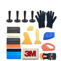 15pcs Auto Wrap Vinyl Film Tools Kit Kit in fibra di carbonio Squeegee Raschietto Art Coltello Blade con supporti per auto Magnete Accessori per auto