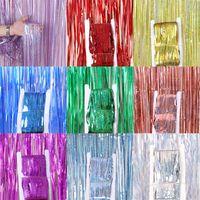 웨딩 장식 비 커튼 (1) * 3M 장식 조각 포일 프린지 술 웨딩 백 드롭 생일 크리스마스 파티 장식 벽 드레이프
