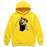 Tek Parça Luffy Hoodies Erkekler Casual Homme Polar Kazak Japon Anime Baskılı Erkek Streetwear Giyim Sonbahar Kış Erkekler Tops