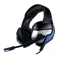 2019 ONIKUMA K5 3.5mm Gaming Headphones Cuffie auricolari Best casque con microfono LED Light per tablet / PS4 / Xbox One