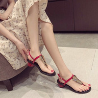 Korean version of the fashion coarse- toed sandals female 201...