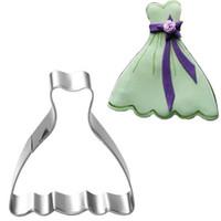 Natale in acciaio inox Cookie Cutter 2 principessa Dress 1 Corona Motivo ornamentale metallo biscotto della muffa del bigné Decor Mold
