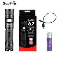 Светодиодный фонарик USB Linterna Supfire A2 Lantera 18650 Zoom Light Tactical Fight Fight Lamp для Nicron SofiRn Nitecore Fenix S019