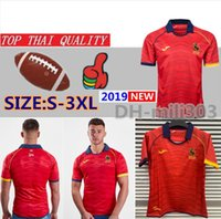 Neueste internationale Liga Spanien 2019 Home Rugby Shirt Nationalmannschaft Rugby Jerseys Liga Shirt Thailand Qualität Spanien Union Shirts S-3XL