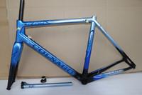 Cadre de cadre en carbone bleu noir Colnago C64 cadre de vélo de route Cadre en vélo de carbone 8 cadre de couleur design taille 48cm