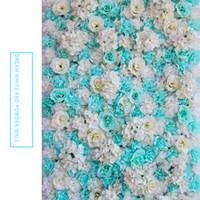 Yapay Gül 40x60cm Özelleştirilmiş Renk İpek Gül Çiçek Duvar Düğün Dekorasyon Backdrop Yapay Çiçek Duvar Romantik EEA1587