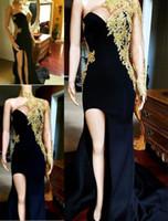 Appliqu Prom SpitzeAppliques reizvolle schwarze Abendkleider Lange bodenlangen Saudi-Arabien formale Abend-Partei-Kleider der Frauen formales Kleid
