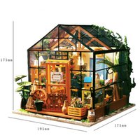 1: 24 Dollhouse Kit Miniature DIY Greenhouse Blossom House Ki...