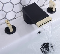 2019 sıcak satış yeni stiller Soğuk ve sıcak siyah altın havza musluk şelale beyaz bakır tuvalet musluk havza fa ...