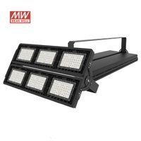 Highbay Mahkemesi Lambası 900 W MeanWell AC100-277V 7 Yıl Garanti 150LM / W 5050SMD Sel Endüstriyel Dış Aydınlatma LED Stadyum Işık Su Geçirmez