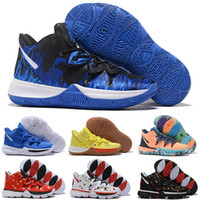 2019 New Arrival Mens Kyrie 5 Duke TV PE Basketball Shoes Fo...