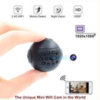 Red de control remoto mini cámara inalámbrica de visión nocturna completa de HD 1080P IR cámara micro de la videocámara DV DVR de la detección del movimiento de la seguridad casera 813