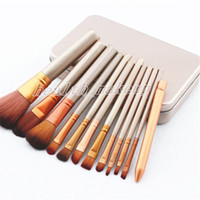Makyaj Fırçalar NK3 yüz ve gözler Fırçalar Seti Demir Kutusu kozmetik Fırça Göz farı fırçası ile 12 adet Profesyonel Makyaj Fırça seti Kiti