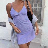 V Yaka Yaz Elbise Camiş A-line Çiçek Kısa Kadınlar Seksi Backless Kulübü Elbiseler Kadın Kolsuz kısa elbiseler LYQ533